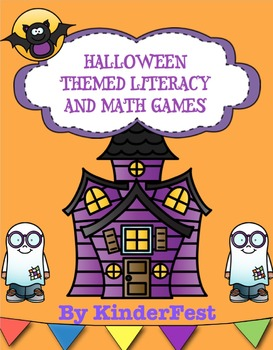 Halloween Themed Literacy and Math Games for Kindergarten