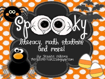 Halloween Themed Literacy and Math Stations! {Over 18 Acti