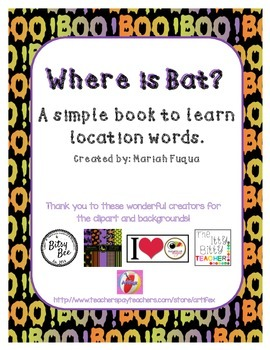 Halloween Themed-Location Word Book