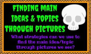Halloween Themed Main Idea and Topic Google Slide