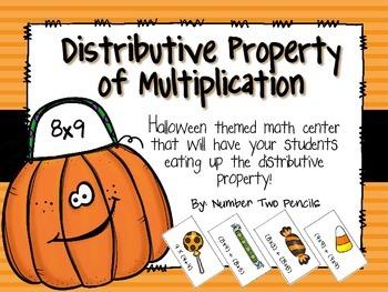 Halloween Themed Math Center: Distributive Property of Mul