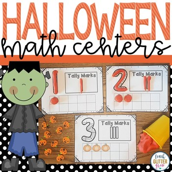 Halloween Themed Math Workstations/Centers