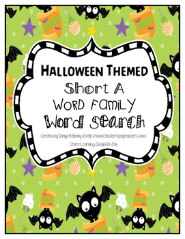 Halloween Themed: Short 'a' Word Family Word Search
