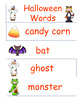 Halloween Themed Word Wall Words