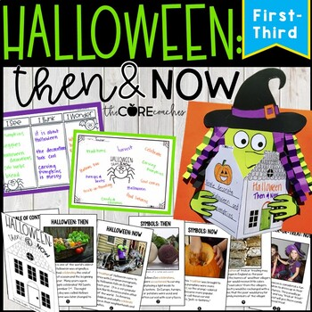 Halloween: Then & Now Close Reading Lesson Plans 1-3