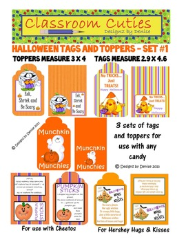 Halloween Toppers and Tags - Set 1