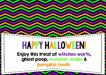 Halloween Treat Bag Topper