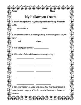 Halloween Treat Math