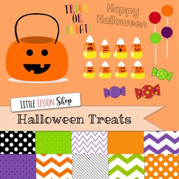 Halloween Treats Clipart Candy Corn Emoji Digital Paper Bundle