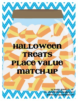 Halloween Treats Place Value Match Up