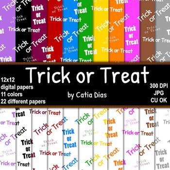 Halloween - Trick or Treat - 22 Digital Papers
