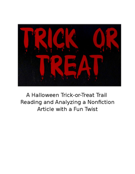 Halloween Trick-or-Treat Trail: Analyzing a Nonfiction Art