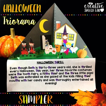 Halloween Triorama Sampler for Articulation, Language and