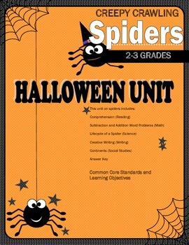 Halloween Unit: Creepy Crawling Spiders