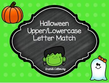 Halloween Upper/Lowercase Matching