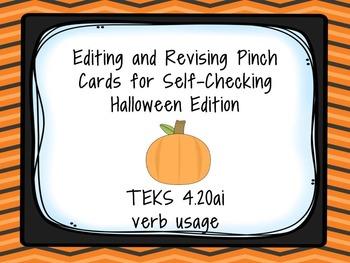 Halloween Verb Usage Task Cards