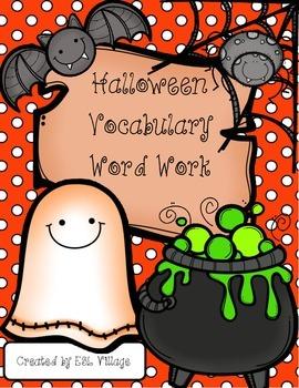 Halloween Vocabulary {Word Work /4 - 6 grades}