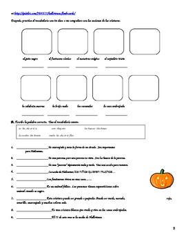 Halloween Vocabulary and Activities Packet