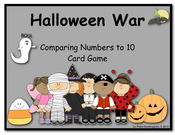 Halloween War (A Comparing Numbers to 10 Card Game)