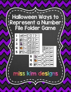 Halloween Ways to Represent A Number File Folder Game for