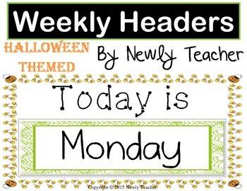 Halloween Weekly Headers