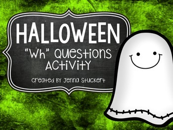 """Halloween """"Wh"""" Questions Activity"""