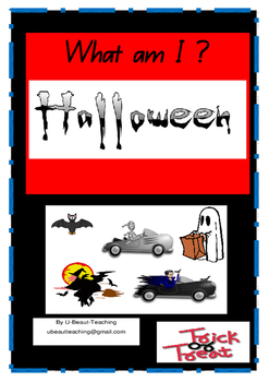 Halloween What am I? With sentence construction.