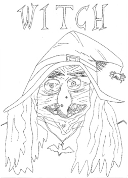 Halloween: Witch Colouring Sheet