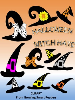 Halloween Witch Hats Clip Art