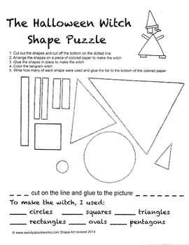Halloween Witch Shape Puzzle