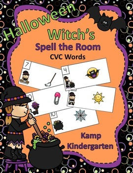 Halloween Witch's Spell the Room (CVC Words)