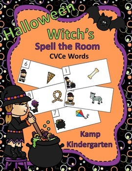 Halloween Witch's Spell the Room (CVCe Words)