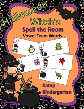 Halloween Witch's Spell the Room (Vowel Team Words)