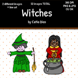 Halloween - Witches Clip Art