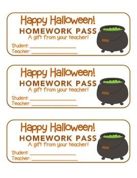 """Halloween"" Witch's Cauldron - Homework Pass – Holiday FUN"