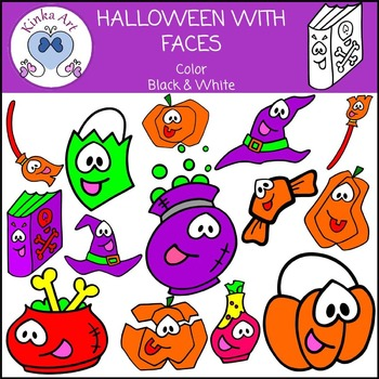 Halloween {With Faces} Clip Art