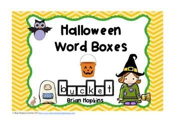 Halloween Word Boxes