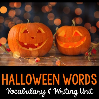 Halloween Word Cards and Word Walls {in English and Spanish}