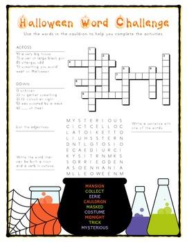 Halloween Word Challenge (3rd / 4th)