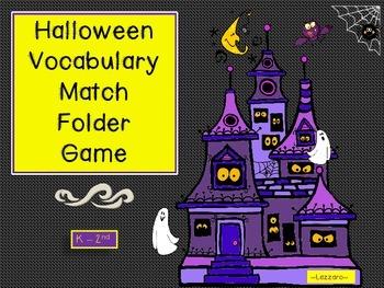 Halloween Word Match Board Game