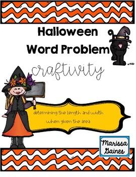 Halloween Word Problem Craftivity
