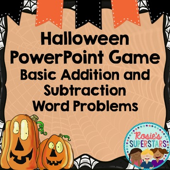 Halloween Word Problem PowerPoint Game: Basic Addition and