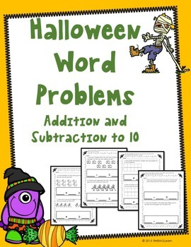 Halloween Word Problems Numbers to 10