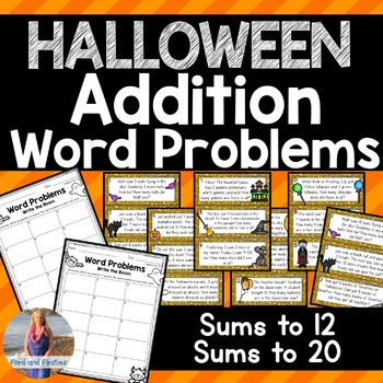 Halloween Word Problems - Write the Room!