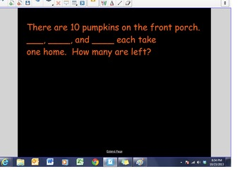 Halloween Word Problems...with your kids' names!