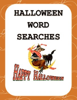 Halloween Word Search  - 3 separate word searches using Ha