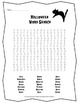 Halloween Word Search Activity