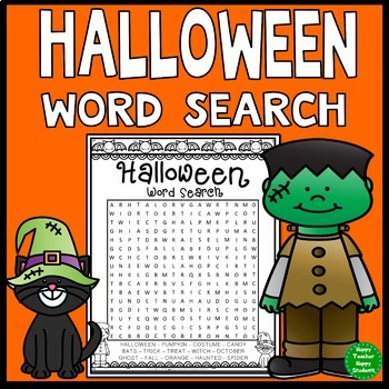 Free! Halloween Word Search Activity