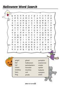 Halloween Word Search - Hard