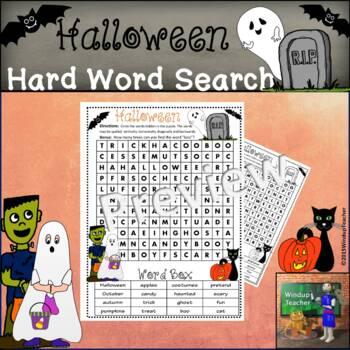 Halloween Word Search  *Hard